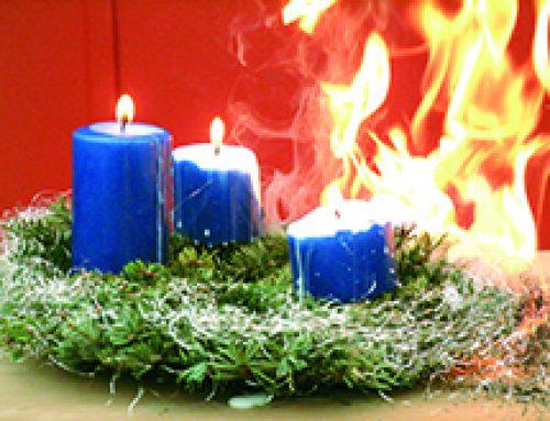 Weihnachtszeit ist brandgefährlich